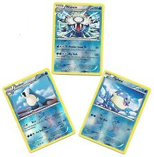 WALREIN SEALEO SPHEAL -3 EVOLUTION Flashfire Pokemon Cards -REV HOLO -MINT