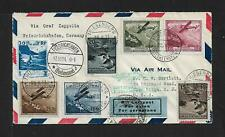 ZEPPELIN LIECHTENSTEIN TO BRAZIL TO USA COVER 1931
