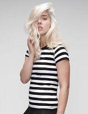 Gestreifte L Damen-T-Shirts aus Baumwolle