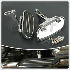 Chrome Streamline Passenger Foot board FloorBoard Fit For Harley Touring 1993-Up
