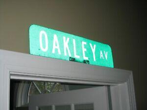 OAKLEY Av (avenue) (real vintage) STREET SIGN - 1 of a kind!!!