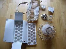 NEU Hängeleuchte Asfour Kristall-Kugeln Lampister 30cm Chrom Hänge-Lampe Crystal
