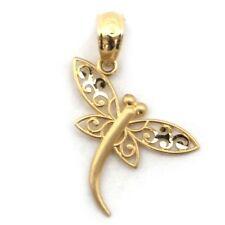 Beauniq 14k Yellow Gold Filigree Dragonfly Pendant