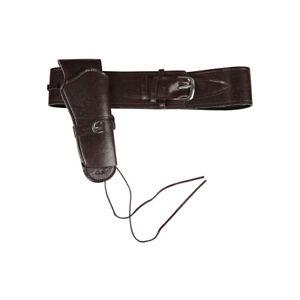 Brown Cowboy Gun Holster + Belt Wild West Fancy Dress Accessory