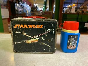 Vintage Star Wars Metal Thermos & Lunch Box 1977 A NEW HOPE