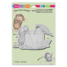HOUSE MOUSE RUBBER STAMPS CLING SHARE A SIP NEW cling STAMP