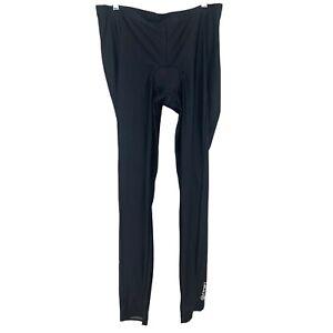 Canari Cycling Men's Size 2XL Black Padded Long Pants Tights