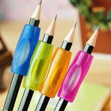 6x Silikon Stiftehalter Schreibhilfe für Stift Bleistift Griff flexibel