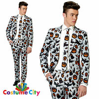 Adult Mens Suitmeister Grey Halloween Icons Suit Fancy Dress Party Costume