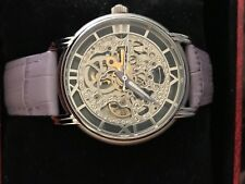 Jeanneret Skeleton Watch Stainless Steel/purple tones Water Resistant Automatic