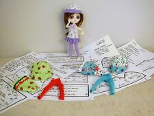 "Dresses/Hats/Tights Pattern 07SS01 For 7"" Wilde Imagination Sad Sally Dolls"