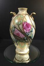 NIPPON VASE--SO LOVELY--MORIAGE WITH ROSES & GOLD HIGHLIGHTS--BUY IT NOW!