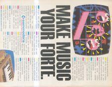 "(SHBK22)P46 COMMODORE 64 MUSIC MAKER ADVERT 11X8"""