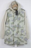RRP €199 SCOTCH & SODA SMALL Multicolored Hooded Fishtail Parka Jacket 10691*mm