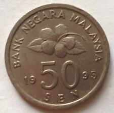 Second Series 50 sen coin 1995
