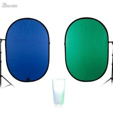 Blue/Green 2-in-1 Background Panel Popup Backdrop Reversible Collapsible Screen