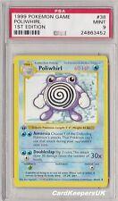 Pokemon Card Poliwhirl 38/102 1st Edition Shadowless Base Set PSA 9 MINT