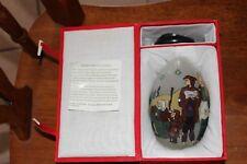 Treasured Visions Hand Blown & Painted Glass Egg W/Original Box
