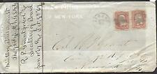 1-1867 US OFFICIAL BUSINESS ENVELOPE COVER 2 # 65 -3¢ Washington  OVER 130 YEARS