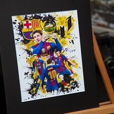 Lionel Messi #10 - Unique Artwork - FC Barcelona - 3D Effect - Handmade