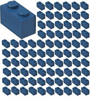 ☀️100x NEW LEGO 1x2 DARK BLUE Bricks (ID 3004) BULK Parts City Building