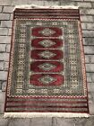 Vintage Hand Knotted Fine Wool Bokhara Rug 46 X 32 Inch
