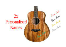 Personalised guitar Names Sticker Decals X2 X 30MM high