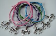 x6 HORSE PONY PARTY GIFTS BAG FILLERS FRIENDSHIP BRACELETS COMPETITION PRIZES