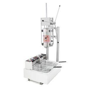 WOO 220V Churros Maker Deep-fried Dough Stick 12L Fryer Commercial Snack Machine