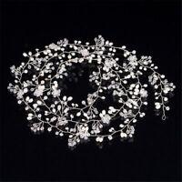 1M Imitation Pearl Crystal Wedding Hair Vine Crystal Bridal Accessories Imi H7Q9