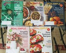 Real Simple Magazine Lot of 5 NEW Issues in plastic, Recipes, Holidays, Gifts