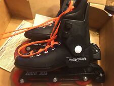 Vintage 1990 Zetra 303 Rollerblades Youth 3 Inline Skates In Original Box Black