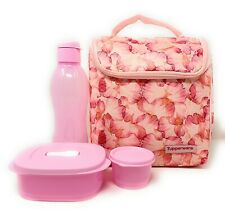 Tupperware Pink Lunch Set of 4 New