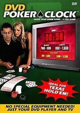 Poker Clock-Make Your Home Game...A Pro Game-Ideal For Texas Hold`Em!  DVD NEW