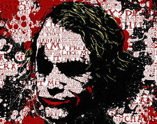 Incorniciato stampa-JOKER da Batman (Heath Ledger foto poster arte SUPERMAN)
