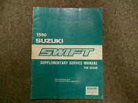 1990 Suzuki Swift Sedan Supplementary Service Repair Shop Manual FACTORY OEM 90