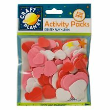 Craft Planet Heart Shapes Funky Foam 75 Pieces CPT 80500