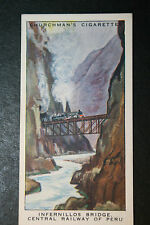 Central Railway of Peru   Infernillos Bridge Vintage Card  ## VGC