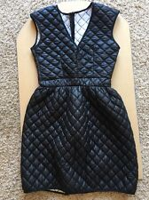 Quilted Puffy Puffer Dress Womens XS or Juniors M Black Sleeveless