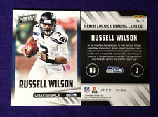 2015 Panini Fathers Day RUSSELL WILSON #3 Seahawks/Wisconsin Free Shipping