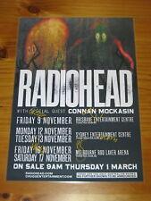RADIOHEAD - Australia Tour 2012 - SIGNED AUTOGRAPHED - Laminated Promo Poster