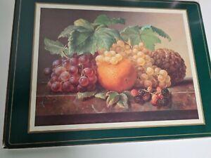 "Pimpernel 4 Large Place/ Serving  Mats 16""x 12"" Fruit hHarvest mMade In England"