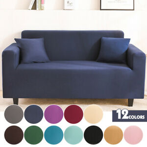 1/2/3/4 SeatsIce Silk Stretch Sofa Cover Couch Slipcover  Armchair Removeable