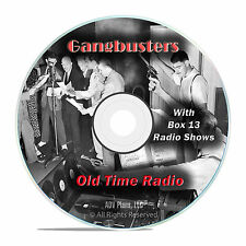 Gangbusters, 783 Old Time Radio Shows, Police Crime Drama OTR mp3 DVD G22