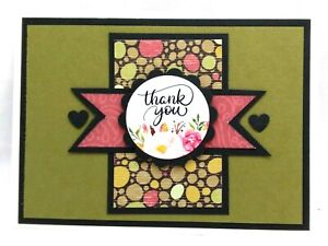 THANK YOU BANNER Greeting Card KIT Lot of 4 - You can make your own cards