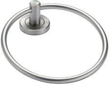 Minimalist Style in Satin Nickel Finish Towel Ring Metal Wall Mount Transitional