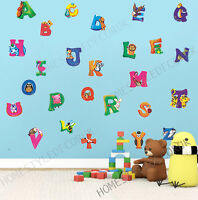 Large Alphabet ABC Wall Stickers Kids Early Educational Baby Nursery Decal Decor