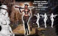1/16 Resin Figure Model Kit Sexy Girl Postapocalypse WWII Unasembled Unpainted