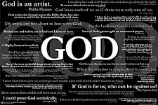 "God Quotes motivational poster 24 x 36"" religious print"