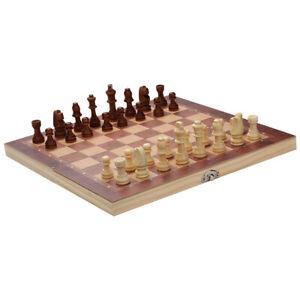 Schachspiel Figuren aus Olivenholz Neu Schach Backgammon edles 3 in1 29*29CM
